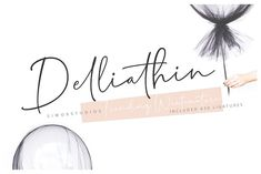 Delliathin Trend by Siwox Studios on @creativemarket #font #typography