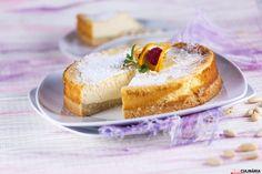 Receita de Cheesecake de amêndoa e laranja no forno. Descubra como preparar este cheesecake de maneira prática e deliciosa com a TeleCulinária!