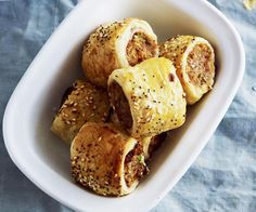 These pork, fennel and fig sausage rolls will be the most gourmet snack at the party.