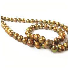 Metallic Bronze Freshwater Potato Pearls, Approx 6-8m #jewellerymaking #jewelrymaking #gemstones #kernowcraft #gemstonebeads