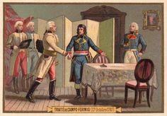 The treaty of Campo Fornio. This is when Napoleon received the Austrian Netherlands.