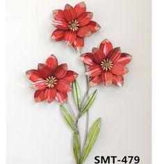 Enfeite De Metal Para Parede Flores 49x8cm - Bom Years - R$ 49,99 em Mercado Livre