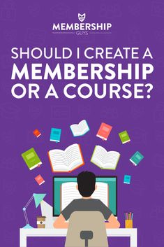 How do you know as a business owner if you should create an online course or a membership iste? It can be tricky figuring out which is best for you. Learn the differences between the two so you can create your product and a plan! #themembershipguys #membershipsite #entrepreneur Make Money Blogging, How To Make Money, Successful Online Businesses, Online Courses, How To Start A Blog, Business Marketing, Entrepreneur, Teaching, How To Plan
