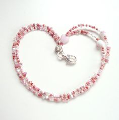 Breast Cancer Awareness Beaded ID Photo Badge by LoveYourBling, $24.00