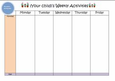 Learn with Play @ home: Weekly Kids Activity Planner