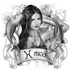 Pisces by on DeviantArt Pisces Tattoos, Mermaid Tattoos, Zodiac Art, Zodiac Signs, Pieces Zodiac, Cool Pencil Drawings, Pisces Woman, Pisces Girl, Astrology Pisces