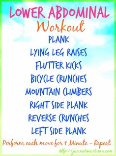 Lower Abdominal Workout