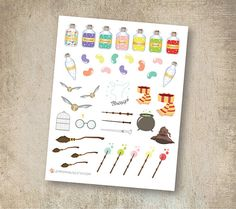 Harry Potter Stickers matte or glossy planner stickers life Harry Potter Stickers, Personal Planners, Erin Condren, Travelers Notebook, Filofax, Planner Stickers, Bujo, Unique Jewelry, Handmade Gifts