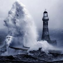 Powerful storm at sea