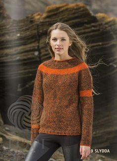 - Icelandic Slydda Women Wool Sweater Orange - Tailor Made - Nordic Store Icelandic Wool Sweaters  - 1