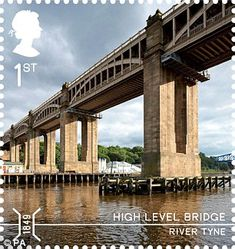 The High Level Bridge over the River Tyne linking Newcastle and Gateshead is featured in the set issued by the Royal Mail.