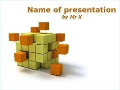 Orange cubic disaggregation Powerpoint Template