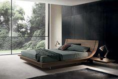 Elegant bedroom furniture in Miami, FL Wood Bed Design, Bedroom Bed Design, Home Bedroom, Bedroom Decor, Bedroom Ideas, Master Bedroom, Master Suite, Bedding Decor, Bedroom Lighting