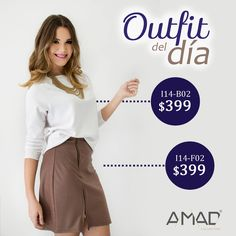 #outfitdeldia #winter #skirt #falda #cafe #blusa #blanca