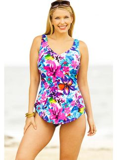 Full powernet tummy control lining smoothes and flattens. #spandex #coupons #swimwear