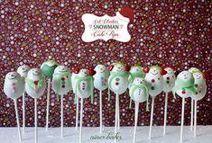 {Christmas} Snowman Cake Pops reloaded | niner bakes