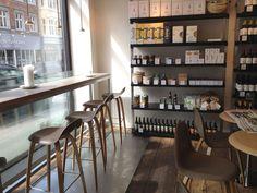 Emmerys, a super chic café & artisanal bakery chain in Copenhagen. furnished with Gubi designs.