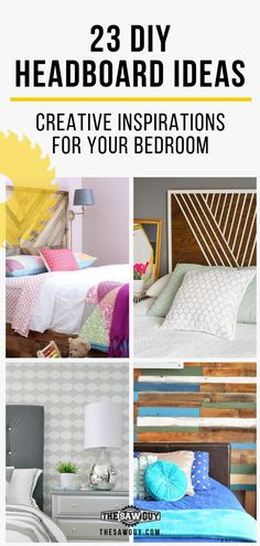 Headboards can make or break a bedroom. Check out our list of 23 headboard ideas for creative inspirations for your bedroom. From traditional styles to rustic ones we have one to suit every taste. Diy Home Decor Bedroom, Living Room Decor, Diy Headboards, Headboard Ideas, Traditional Decor, Traditional Styles, Diy Furniture Plans, Furniture Projects, Wood Projects