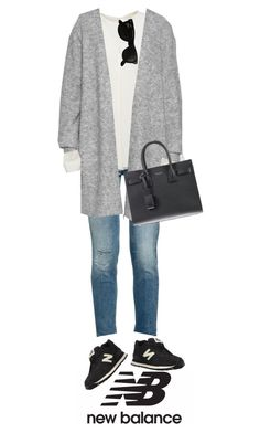 """Run the World in New Balance"" by italist ❤ liked on Polyvore featuring CYCLE, Michael Kors, Acne Studios, Ray-Ban, New Balance Classics, Yves Saint Laurent and NewBalance"