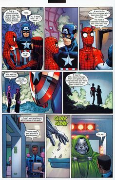 """Peter introduces Mary Jane to Captain America - Amazing Spider-Man 50  """"The mask is supposed to hide your face. Don't let it hide your heart."""""""