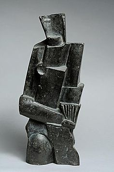 OSSIP ZADKINE (1890 - 1967),OSSIP ZADKINE (1890 - 1967)      Femme au Luth      1925   Bronze   Numbered 2/5   Signed O. Zadkine   9.05 x 6.69 x 3.93 in
