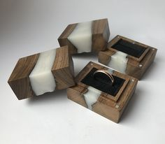 Excited to share this item from my #etsy shop: Unique wooden engagement ring box.Slim. wood resin proposal ring box .slim Engagement ring box. Secret wooden ring holder Mens Wood Wedding Bands, Wood Engagement Ring, Proposal Ring Box, Wooden Ring Box, Resin Ring, Resin Jewelry, Square Rings, Anniversary Gifts For Him, Wood Resin