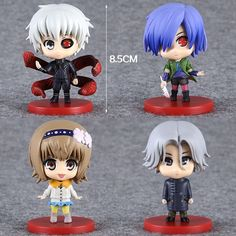 Anime Tokyo Ghoul Kaneki Ken Touka Kirishima Q Version PVC Action Figures Collectible Model Toys 4pcs/set TGFG019