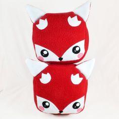 Cube fox plushie plush toy kawaii soft pillow cushion by Plusheez