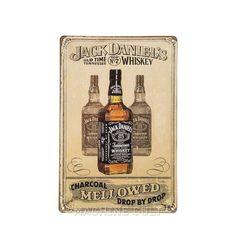 Placa Jack Daniel's Decoração - Machine Cult | Loja online especializada em camisetas, miniaturas, quadros, placas e decoração temática de carros, motos e bikes