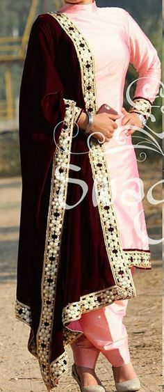 Boutique suit,baby pink silk suit with velvet dupatta, whatsapp +919646916105