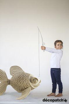 Poisson géant Décopatch #decopatch #DIY #poisson #poissondavril #aprilfool #fish #fishing #giant #idea #creative