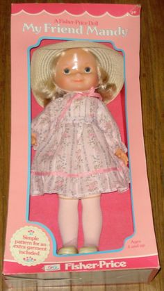 I had this doll......VINTAGE 1979 FISHER PRICE MY FRIEND MANDY DOLL IN ORIGINAL BOX NRFB