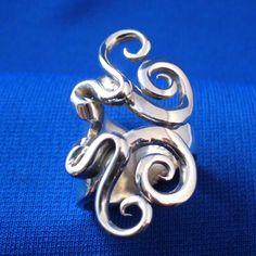 Solid Sterling Silver Real Fork Ring Size 5 to 16 by Forkwhisperer, $149.00