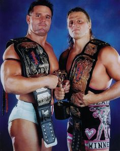 British Bulldog & Owen Hart.....Two Great Men who died way too early.  British Bulldog.. Of a heart attack.. Owen of a Fall.