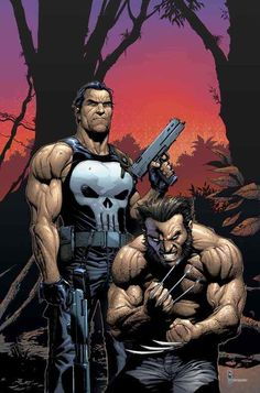 Gary Frank - Punisher and Wolverine