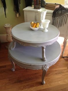 Shabbied French Side Table by TessHome on Etsy, $395.00  Tess Home - 707 Arnold Ave   Point Pleasant Beach, NJ