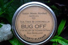 Bug Off Balm  Bug Repellent  Itch Relief  by SisterMoonHerbals