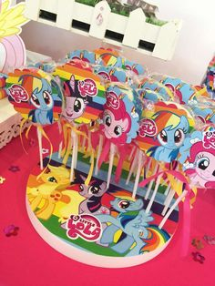 My Little Pony birthday party candy! See more party ideas at CatchMyParty.com!