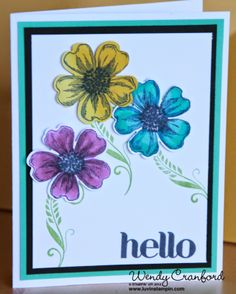 Stampin' UP! Blendabilities using flower shop stamp set and four you stamp set.  Get the new blendabilities from stampin up starting June 2nd, or become a demonstrator and get them now http://www.luvinstampin.com/2014/05/stampin-up-blendabilities.html