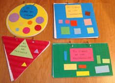 Plastificando ilusiones: Libros elaborados del rincón de la biblioteca Math Activities For Kids, Preschool Education, Preschool At Home, Toddler Preschool, Classroom Activities, Kids Learning, Herve, Pattern Blocks, Math Centers