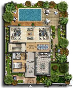 Qatar Al Rayyan Residential Development - villas Site Development Plan Architecture, Plans Architecture, Landscape Architecture Drawing, Landscape Design Plans, Garden Design Plans, Pool House Plans, House Layout Plans, Dream House Plans, House Layouts
