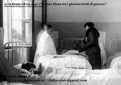 Regina Elena tra i gloriosi feriti di Guerra