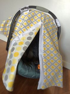 Carseat Canopy Boy Carseat Cover Girl by madebySINGERandZEUS