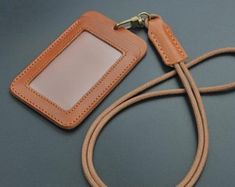 handmade leather ID card walletID card leather caseID card Leather Badge Holder, Leather Keyring, Leather Gifts, Leather Pouch, Handmade Leather, Leather Wallets, Leather Bags, Leather Diy Crafts, Leather Craft