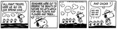 This strip was published on April 24, 1979. Snoopy and Woodstock.