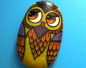 Handmade Rock Painting Owl!