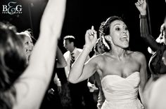 Nothing gets the party going like a bride working' the dance floor. Oh yes, it will be going down at my wedding!