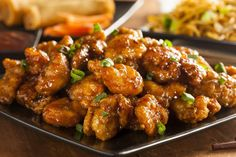 Orange Chicken is a dish that people just can't seem to get enough of, ourselves included! Unfortunately, most orange chicken recipes use a lot of sugar and then deep-fry the chicken, so it's not. Asian Recipes, Healthy Recipes, Ethnic Recipes, Easy Recipes, Oriental Recipes, Chinese Recipes, Vegetarian Recipes, Easy Meals, Restaurant Recipes