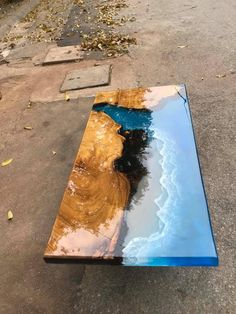 Coffee table epoxy table river table ocean table handmade beautiful table / dining table – Epoxidharz holz – Home Epoxy Diy Resin Table, Epoxy Wood Table, Epoxy Resin Table, Diy Epoxy, Diy Table, Dining Table, Wood Tables, Wood Table Design, Resin Furniture