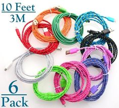Josi Minea Pcs Fabric Braided Nylon Micro USB Cables Charger Sync Data Rapid Charging Cable Cord for Samsung Galaxy Note 54 HTC Android Phones Tablets 5 Pack * Be sure to check out this awesome product. Windows Phone 7, Android Windows, Nexus 7, Google Nexus, Samsung Galaxy S4, Charging Cable, Galaxy Note, Galaxies, Cell Phone Accessories